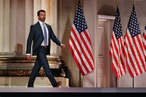 trump jr donald rnc speech convention republican national don police racism end america calls his stage brutality recording washington address