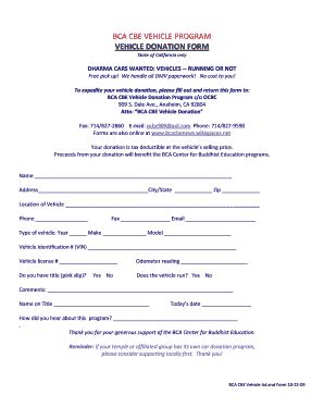 vehicle donation form 14 printable ca dmv selling a car forms and templates