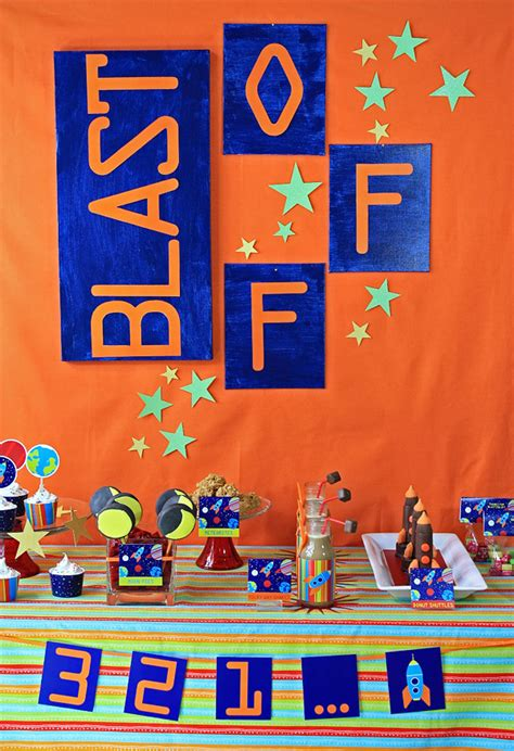 blast  party outer space birthday party astronaut