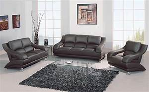 Gray leather sofa set i would love to design around this for Gray leather sofa