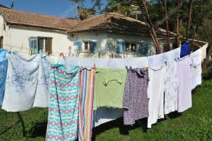 Line Drying Clothes Outside