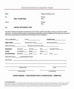 fice Forms Trade Reference Inquiry Form