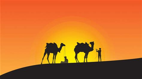 Desert Silhouette Minimal 4k Wallpapers