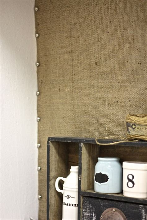 easy burlap kitchen backsplash maison pinterest