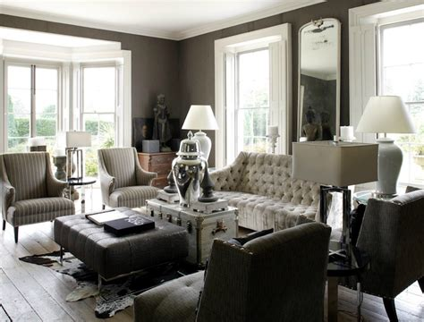 black and gray living room decorating ideas gray tufted sofa eclectic living room 1st option