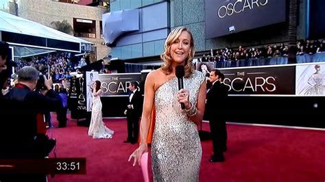 Kristen Stewart Seen Background Oscar Red