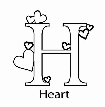 Coloring Alphabet Pages Letter Heart Printable Things