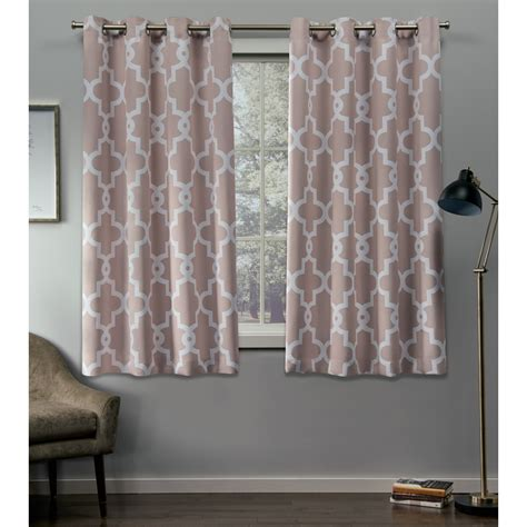 2 Grommet Curtains by Exclusive Home Curtains 2 Pack Ironwork Sateen Blackout