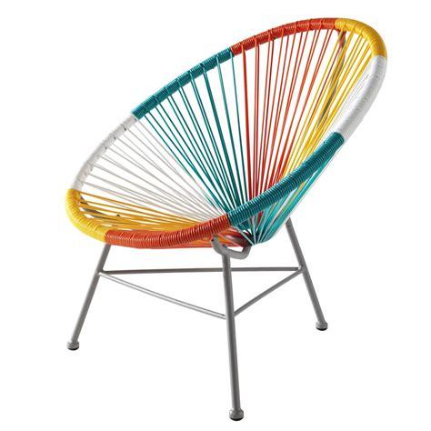 fauteuil enfant en m 233 tal et r 233 sine multicolore copacabana