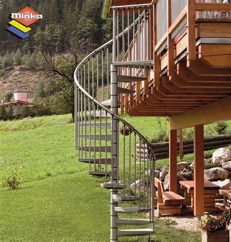 escalier h 233 lico 239 dal ext 233 rieur minka en acier galvanis 233 216 140 cm