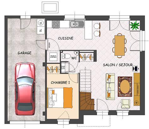 plan maison contemporaine plain pied 4 chambres construction maison neuve iroko lamotte maisons