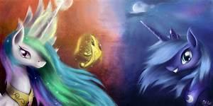 Celestia and Luna Wallpaper Edition by aJVL on DeviantArt