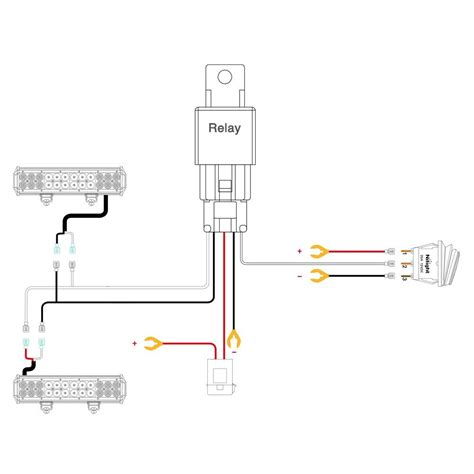 Led Light Bar Switch Wiring Diagram by Nilight Led Light Bar Wiring Harness Kit 12v On Switch