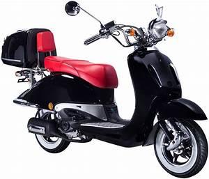 Motorroller 50 Ccm : gt union motorroller strada 50 ccm schwarz rot otto ~ Kayakingforconservation.com Haus und Dekorationen