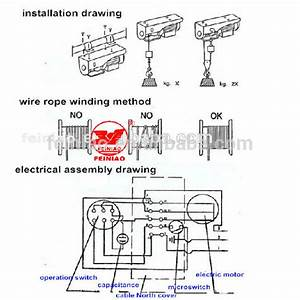 Small Wire Rope Hoist 220-230 Volt Electric Winch  Construction Equipment  Lifting Crane