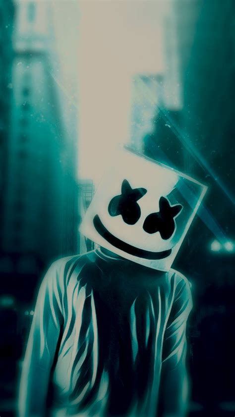 Alan Walker Wallpaper Neon Marshmello by Blue Marsmello Wallpaper By Rhizqhieyos Mohamad In 2019