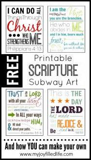 Free Printable Scripture Subway Art