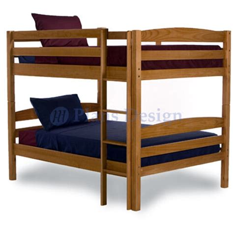 full  full bunk bed woodworking plans design