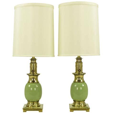 pair stiffel brass porcelain ostrich egg table ls furniture lighting and brass