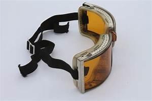 vintage Cesco amber goggles in original box - steampunk