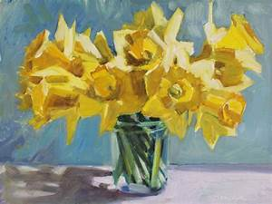 Gretchen Hancock's Paintings: Daffodil Bouquet in a ...