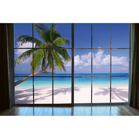 Ms 5 0203 Beach Window View Wall Mural By Dimex