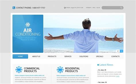 Air Joomlsa Template by Air Conditioning Psd Template 54283