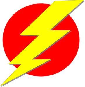 Red Lightning Bolt Clip Art