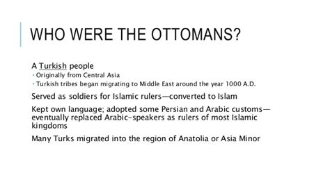 Who Were The Ottomans by The Ottoman Empire