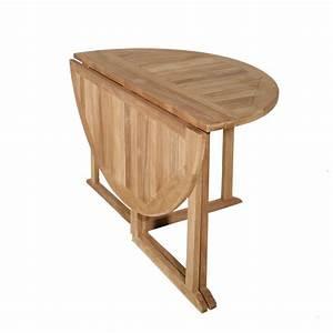 Salon De Jardin Table : salon de jardin en teck table ronde 120cm 4 chaises summer ~ Teatrodelosmanantiales.com Idées de Décoration