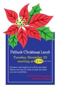 Christmas Potluck Flyer Clip Art