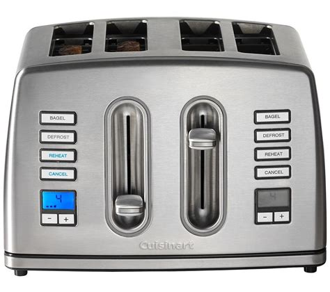 Buy 4 Slice Toaster by Buy Cuisinart Cpt445u 4 Slice Toaster Stainless Steel