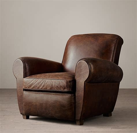 parisian leather club chair