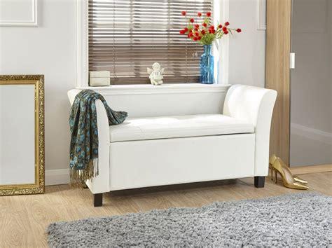 window seat storage bench verona window seat ottoman large faux leather footstool