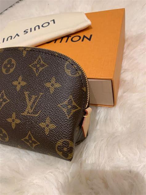 louis vuitton pouch  monogram pm cosmetic bag tradesy