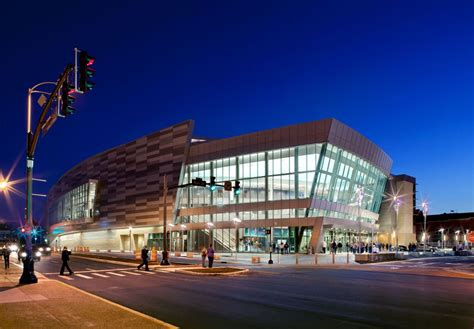 ford center  enhance downtown evansville populous