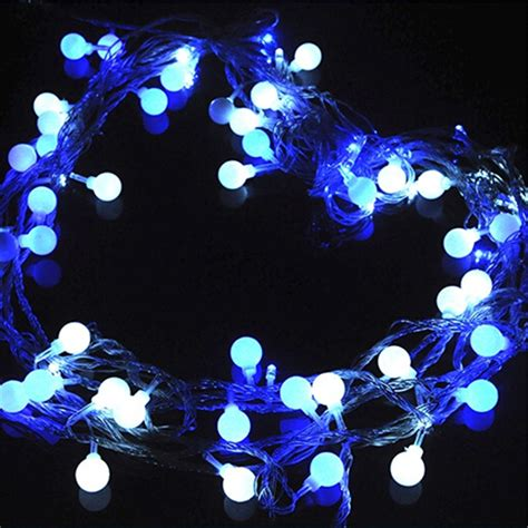 10m plastic globe string lights led light