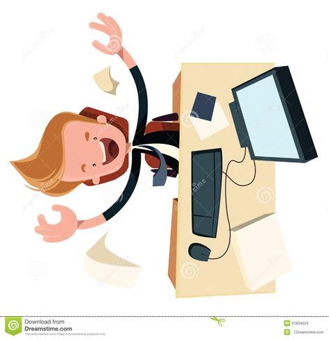 enthysiasm d affaires au personnage de dessin anim 233 d illustration de bureau de travail