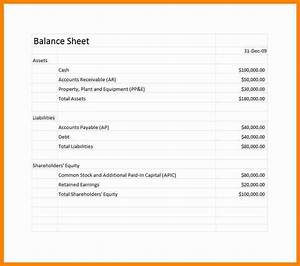 small business financial statement form