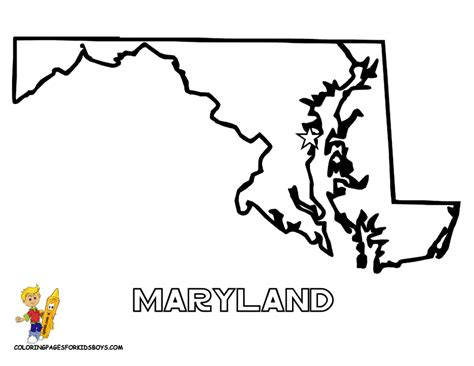 Maryland State Flag Coloring Page - Eskayalitim