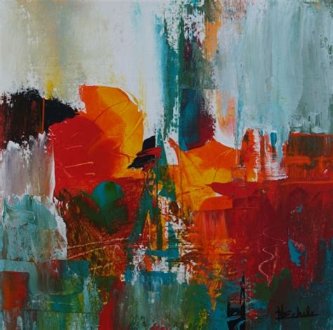 painters modern crowd by nancy eckels abstract contemporary modern painting original painting by