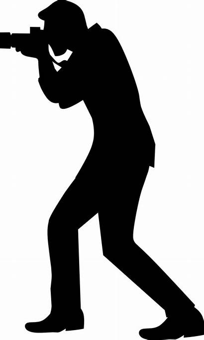 Silhouette Camera Photographer Pixabay Clipart Guy Graphic