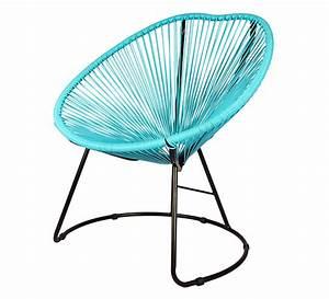 Fauteuil Bleu Turquoise : fauteuil de jardin copacabana fil bleu turquoise 99 salon d 39 t ~ Teatrodelosmanantiales.com Idées de Décoration
