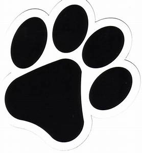 tiger paw print stencil clipart best With tiger paw template