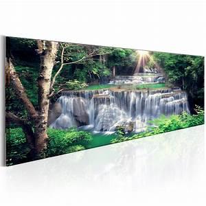 Bilder Natur Leinwand : leinwand bilder xxl fertig aufgespannt bild wasserfall natur c c 0017 b b ebay ~ Markanthonyermac.com Haus und Dekorationen
