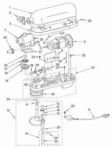 Kitchenaid Kg25h7x Parts List And Diagram