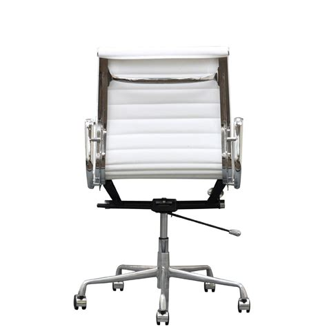 white office chair amazon lexmod ribbed mid back office chair in white genuine