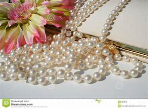 Pearls And Vintage Purse Stock Photo - Image: 661970