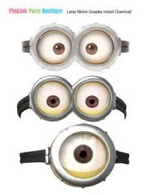 Despicable Me Minion Goggles Printable