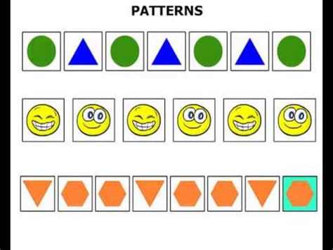 kindergarten lesson shape patterns 902 | hqdefault